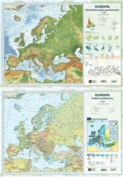 MAPA EUROPY A2 DWUSTRONNA ŚCIENNA