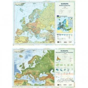 MAPA EUROPY DWUSTRONNA LAMINOWANA