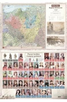 MAPA POLSKI REGIONY HISTORYCZNE ŚCIENNA